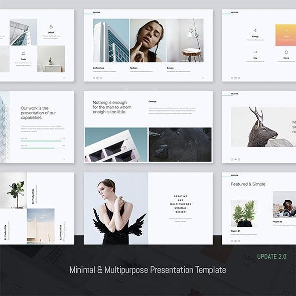 Selected - Minimal Presentation Template (GoogleSlide) - Google Slides Presentation Templates