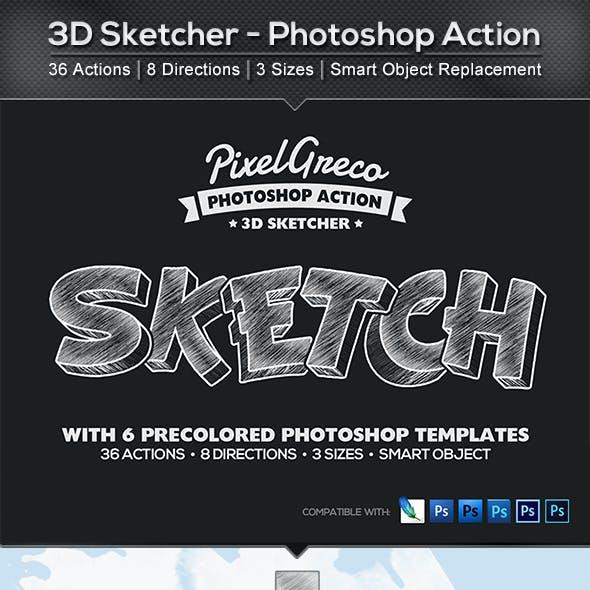 3D Sketcher - Photoshop Action