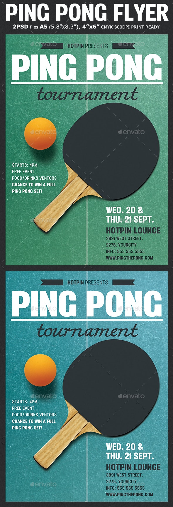 Ping Pong Flyer Template - Sports Events