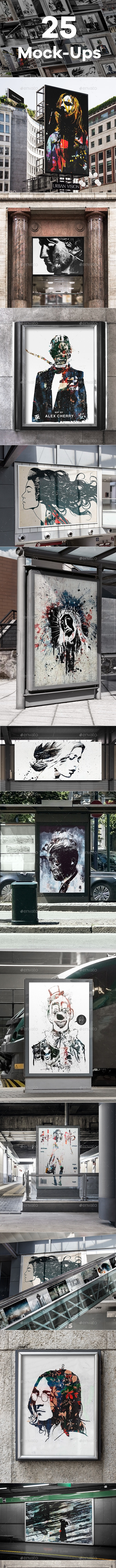 Outdoor Advertising Mock-ups - Print Product Mock-Ups