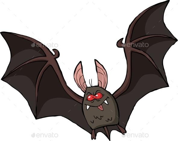 Cartoon Bat - Halloween Seasons/Holidays