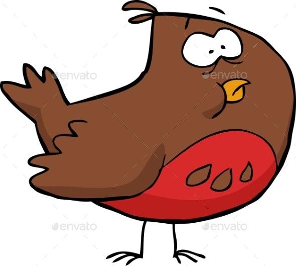 Cartoon Brown Bird - Animals Characters