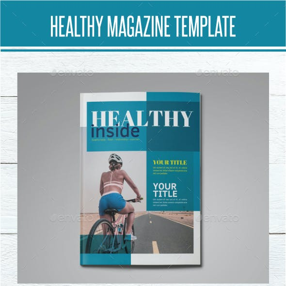 Healthy Magazine Indesign Template