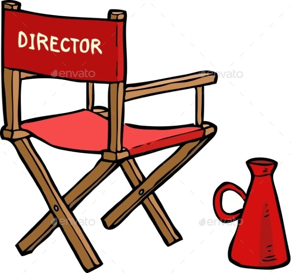 Cartoon Director Chair - Miscellaneous Vectors