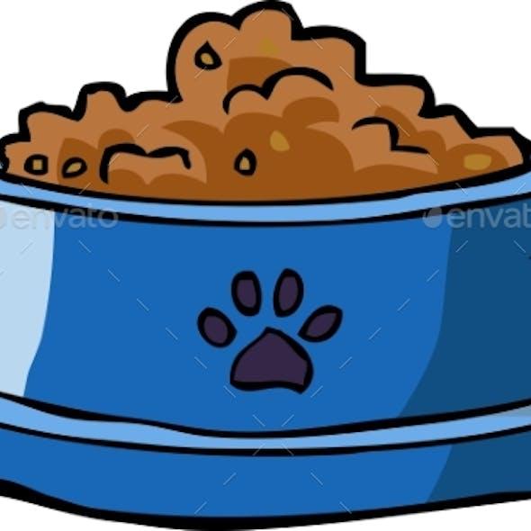 Dog Bowl with Food