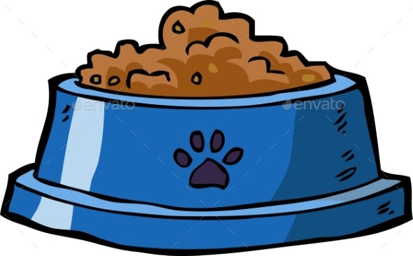 Dog Bowl with Food - Animals Characters