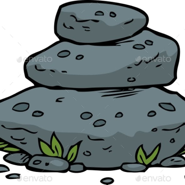 Doodle Stacked Stones