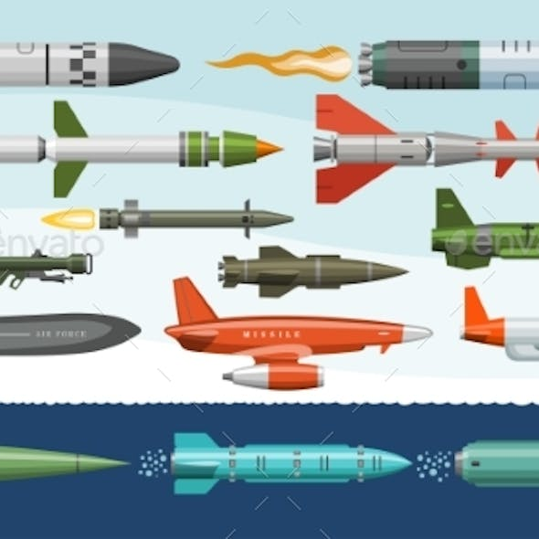 Missile Vector Military Missilery Rocket Weapon