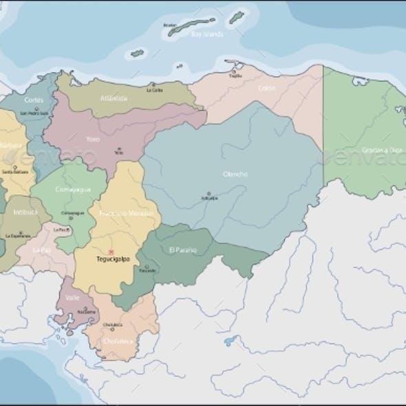 Map of El Honduras