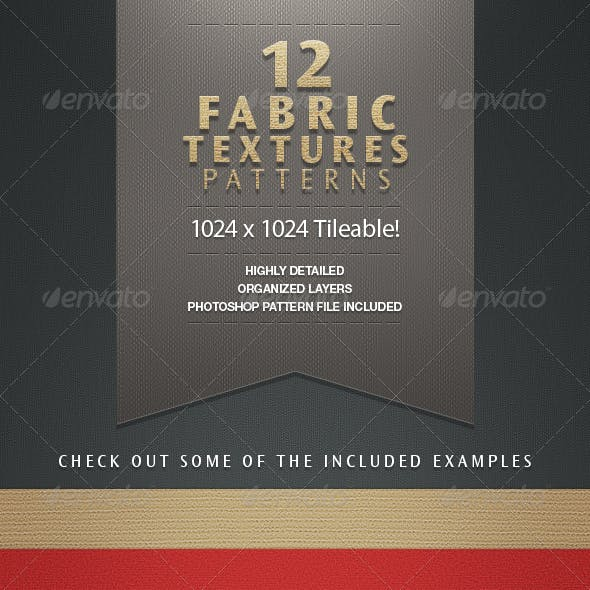 12 Handmade Repeating Fabric Texture Patterns