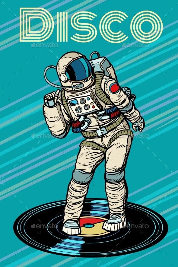 Disco Astronaut Dances - People Characters