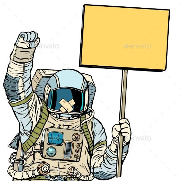 Astronaut with Gag Protesting