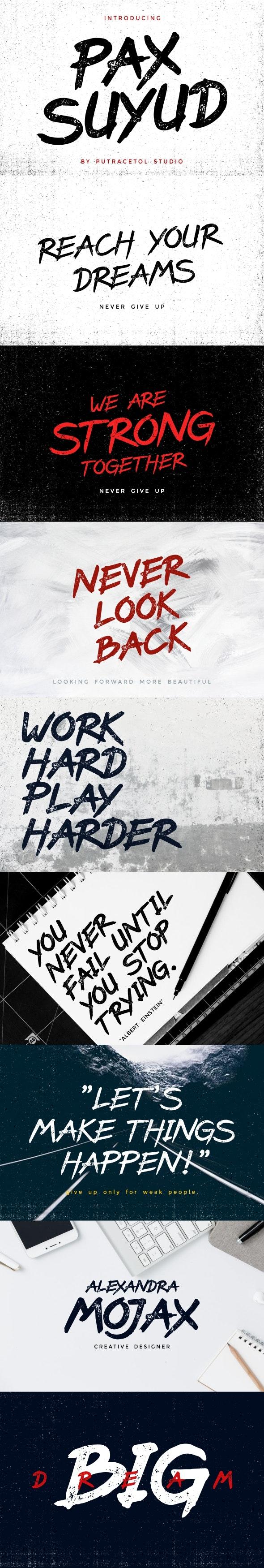 Pax Suyud - Brush Font - Fonts