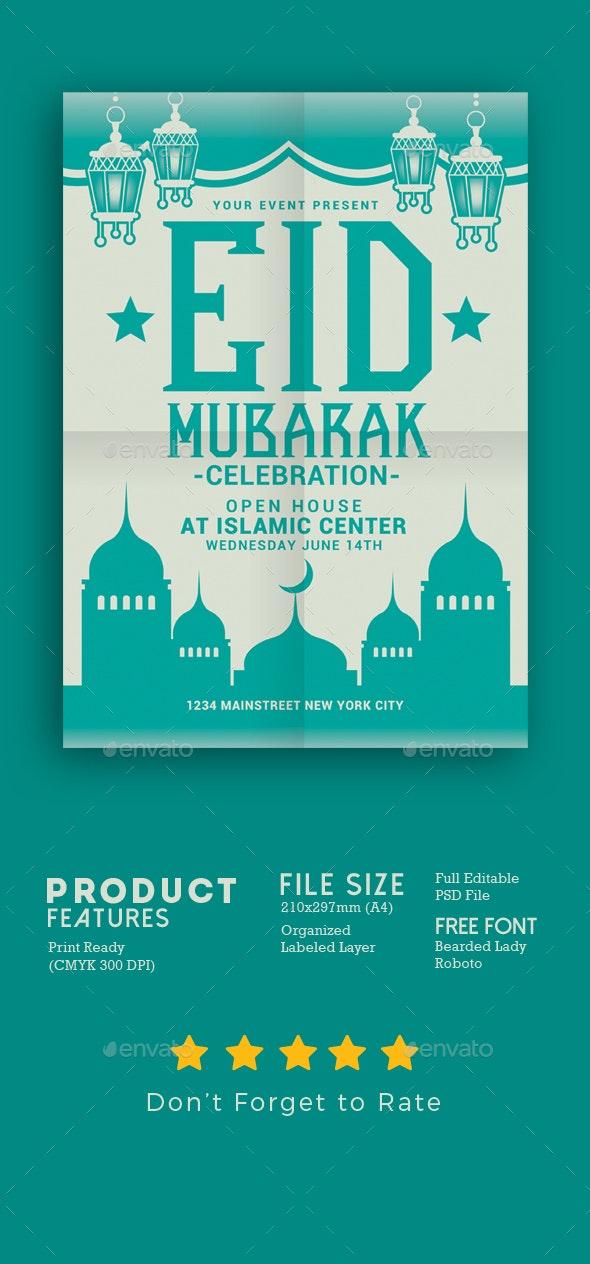 Eid Mubarak Flyer - Events Flyers