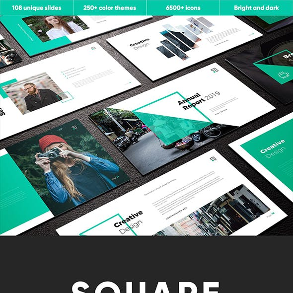 Square Multipurpose PowerPoint Template