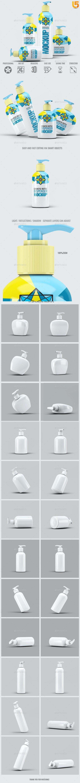 Dispenser Bottles Mock-Up Bundle - Beauty Packaging