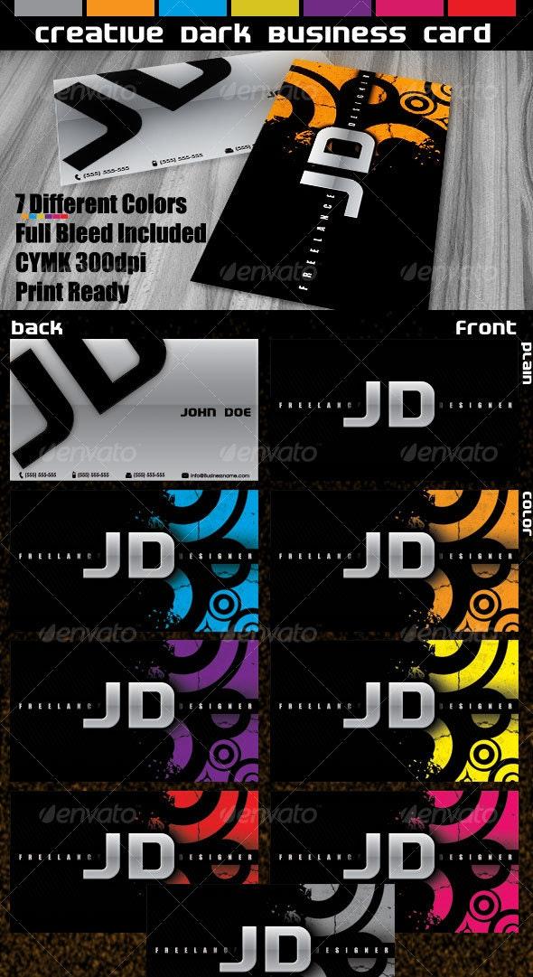 Creative Dark Business Card - Creative Business Cards