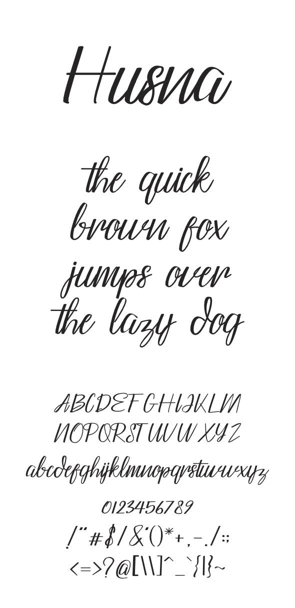 Husna Typeface - Fonts