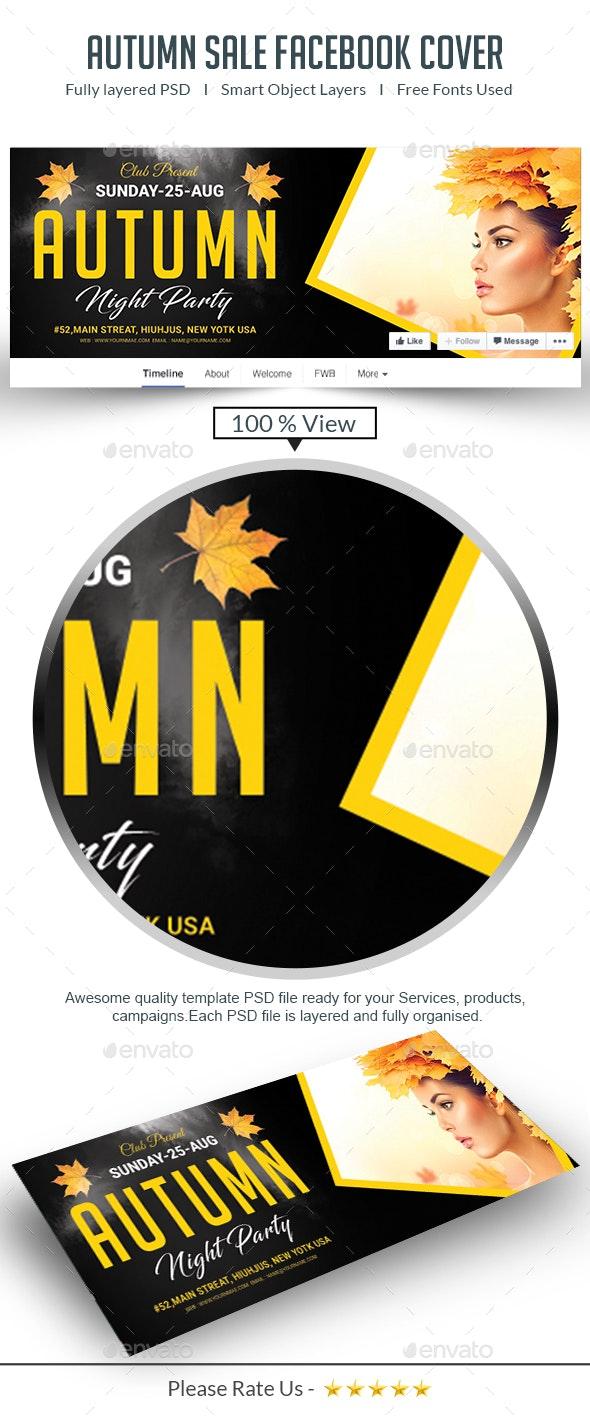 Autumn Sale Facebook Cover - Facebook Timeline Covers Social Media