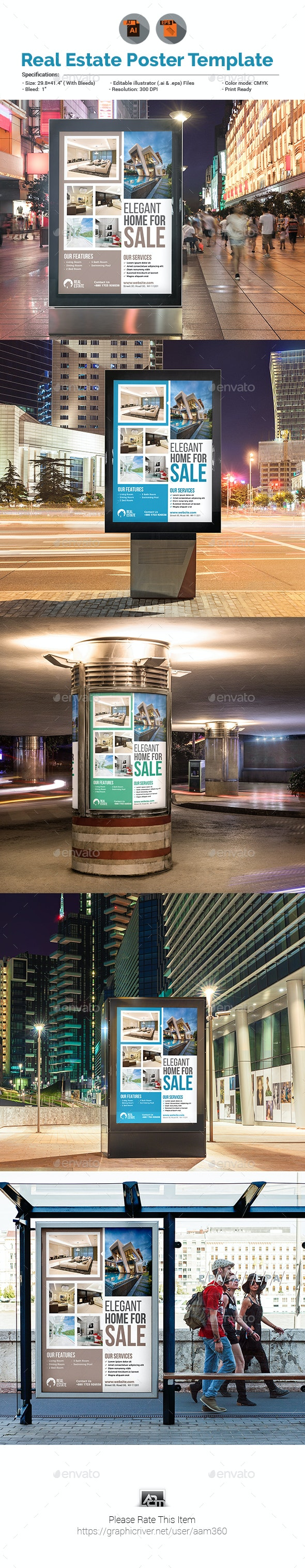 Real Estate Poster - Signage Print Templates