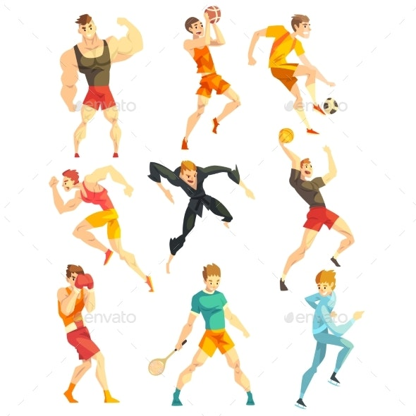 Athletic People Doing Various Kinds of Sports - Sports/Activity Conceptual