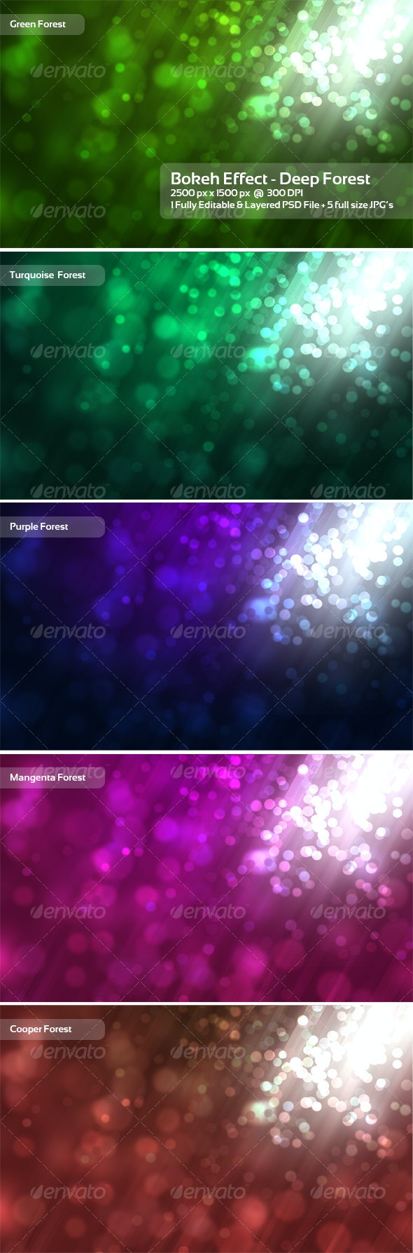 Bokeh Effect - Deep Forest - Backgrounds Graphics