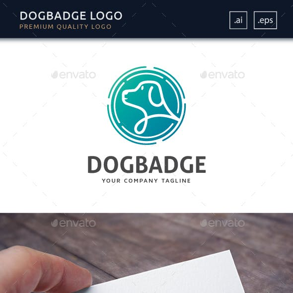 Dog Badge Logo Template