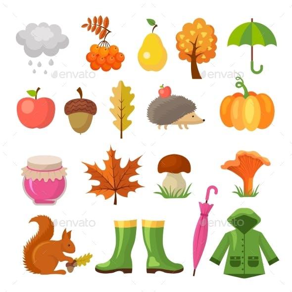 Autumn Colored Symbols