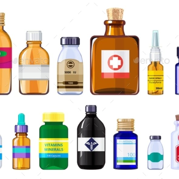 Various Medical Bottles