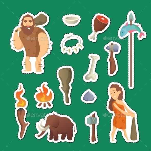 Cave People Elements - Miscellaneous Vectors