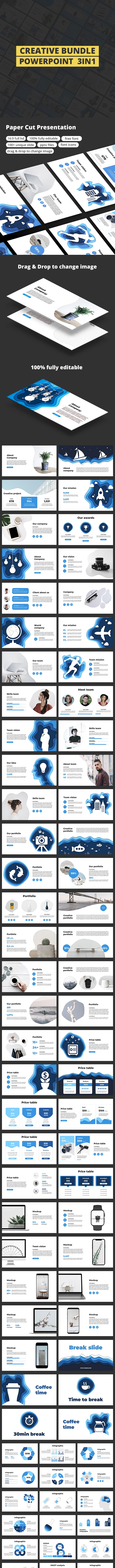Creative 3in1 PowerPoint Bundle - Business PowerPoint Templates