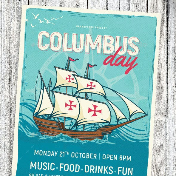 Columbus Day Flyer / Poster Template