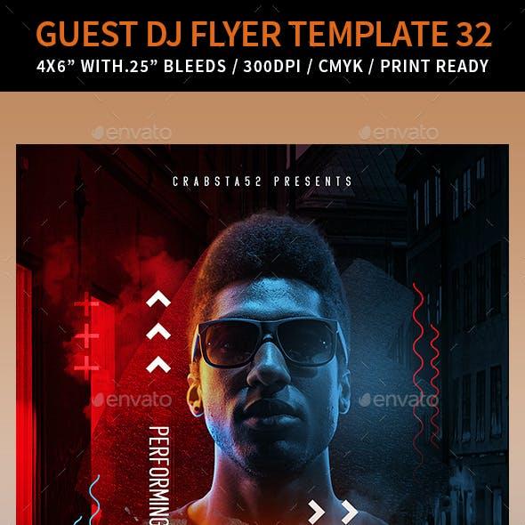 Guest DJ Flyer Template 32
