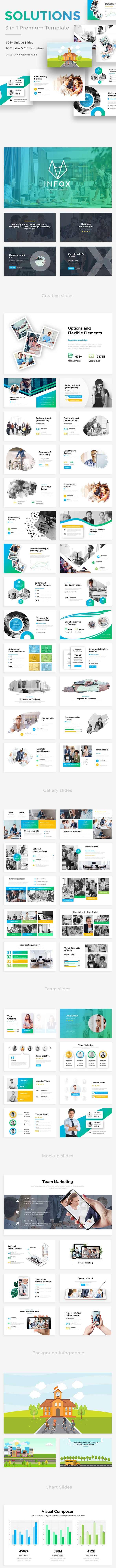 Solutions Plan 3 in 1 Bundle Powerpoint Template - Business PowerPoint Templates
