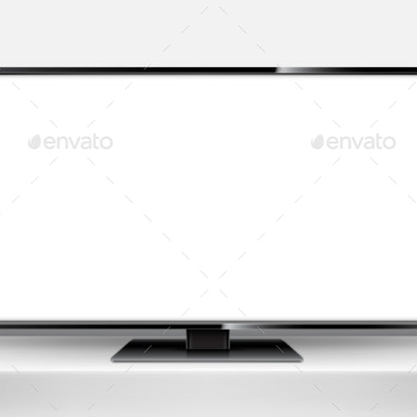 TV Mockup with Blank Screen