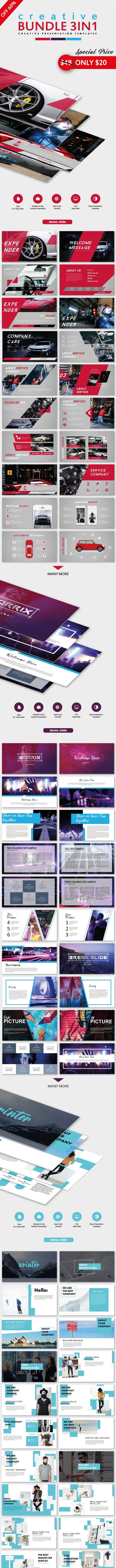 Special Creative Bundle 3 IN 1 Keynote Templates - Creative Keynote Templates
