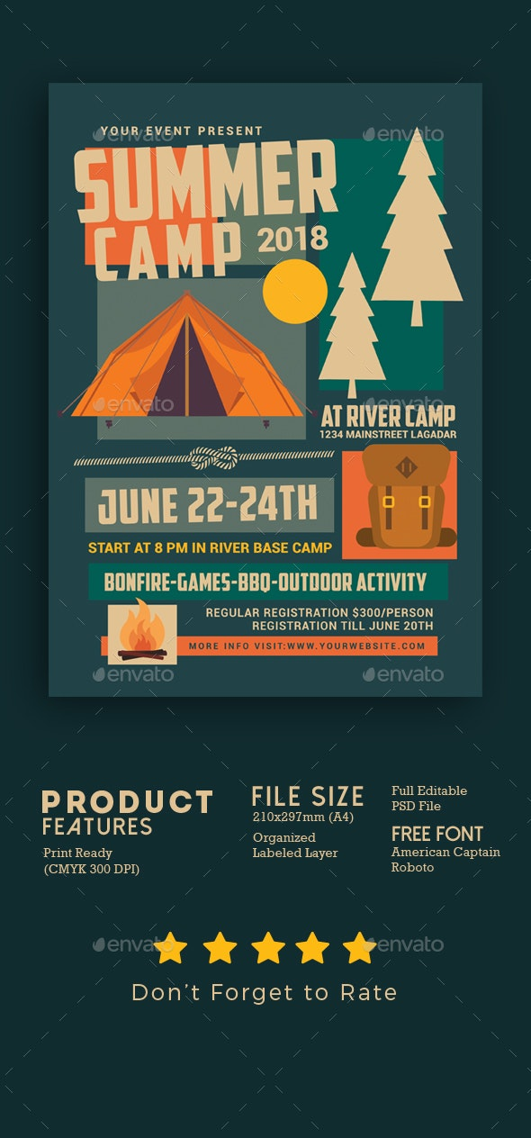 Summer Camp Flyer - Events Flyers