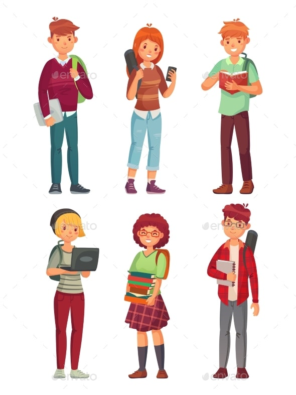 College Students - People Characters