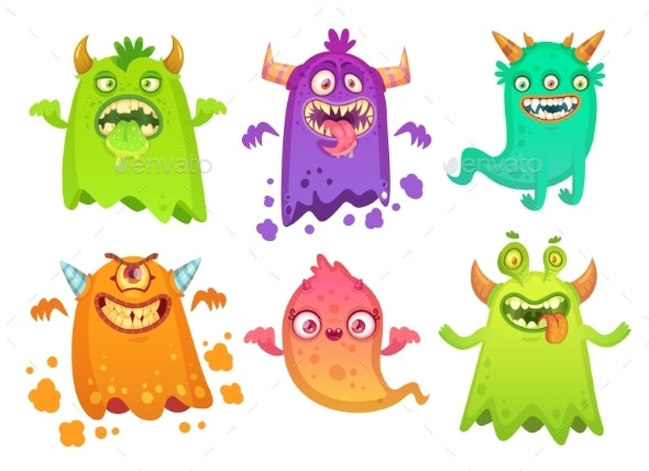 Cartoon Monster Ghost - Monsters Characters