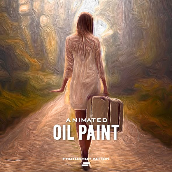 Gif Animated Oil Paint Photoshop Action