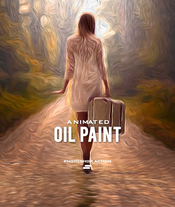 Gif Animated Oil Paint Photoshop Action - Photo Effects Actions