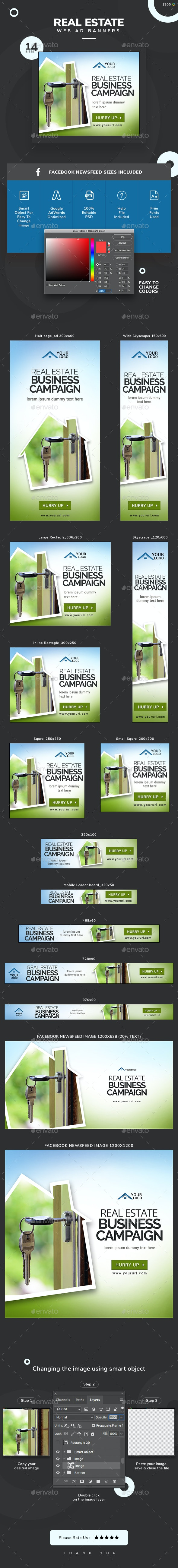 Real Estate Banners - Updated! - Banners & Ads Web Elements