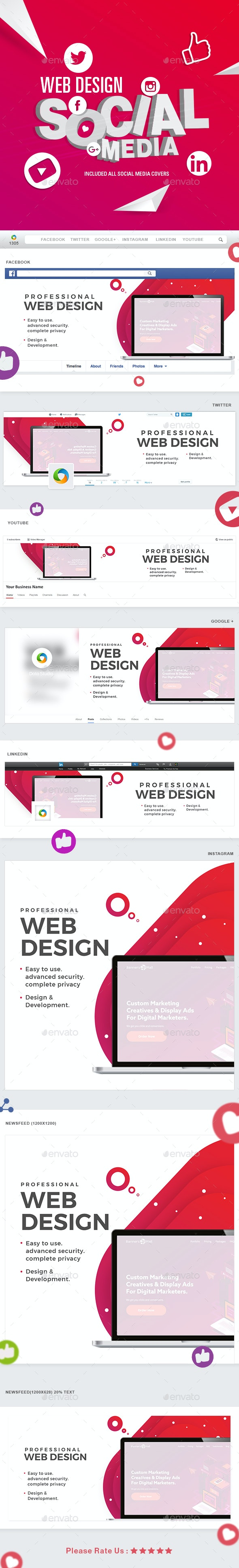 Web Design Social Media Pack - Miscellaneous Social Media
