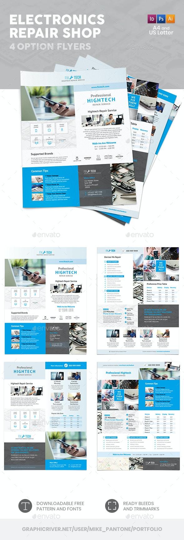 Electronics Repair Shop Flyers – 4 Options - Corporate Flyers