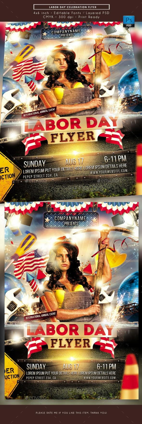 Labor Day Celebration Flyer - Holidays Events
