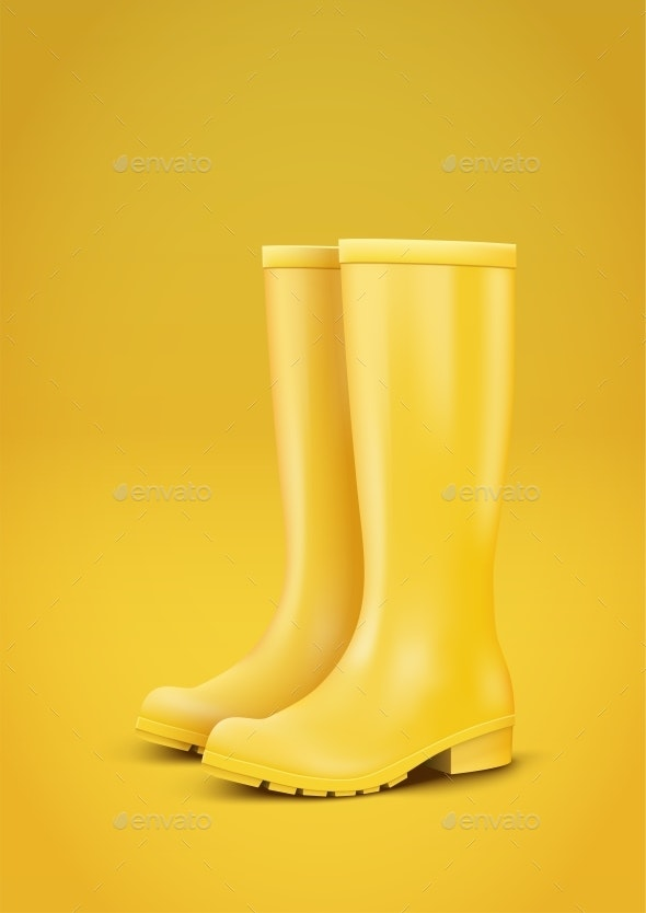 Yellow Rain Boots - Miscellaneous Vectors