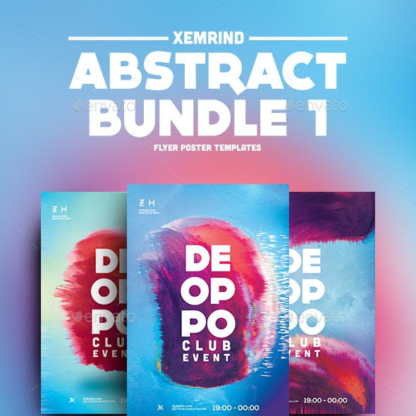 Abstract Flyer/Poster Template Bundle 1