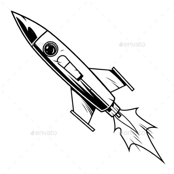 Rocket in Comic Style - Miscellaneous Vectors