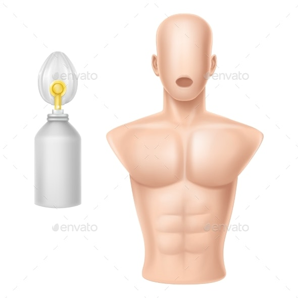 Vector Human Body for Training - Health/Medicine Conceptual