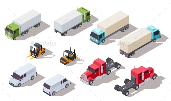 Isometric Truck - Man-made Objects Objects